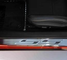 "American Car Craft Chevrolet Camaro 2010-2015  Doorsills Polished  ""SS"" 2pc  Satin Black 101003-BBLK"