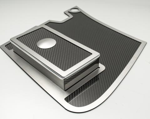 American Car Craft Battery Fuse Box Cover Real Carbon Fiber w/ Satin Trim 033089