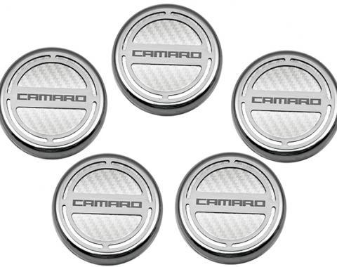 "American Car Craft Chevrolet Camaro 2010-2015  Cap Cover Set Carbon Fiber ""Camaro"" Series Automatic 5pc CF White 103071-WHT"