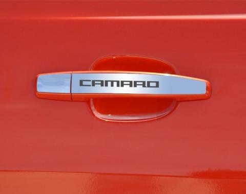 "American Car Craft 2010-2013 Chevrolet Camaro Door Handle Plate Polished Exterior ""Camaro"" 2pc 102082"