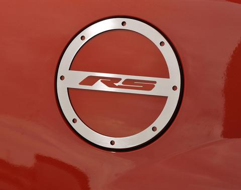 """American Car Craft 2010-2017 Chevrolet Camaro Gas Cap Cover Polished """"RS"""" 102012"""