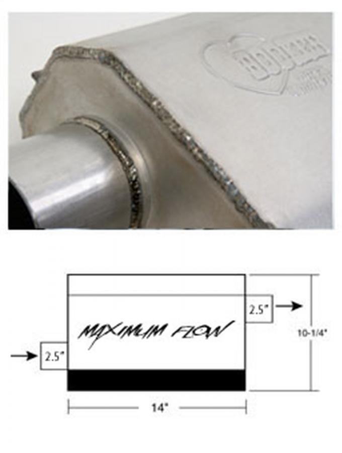 Hooker Maximum Flow Muffler 21604HKR