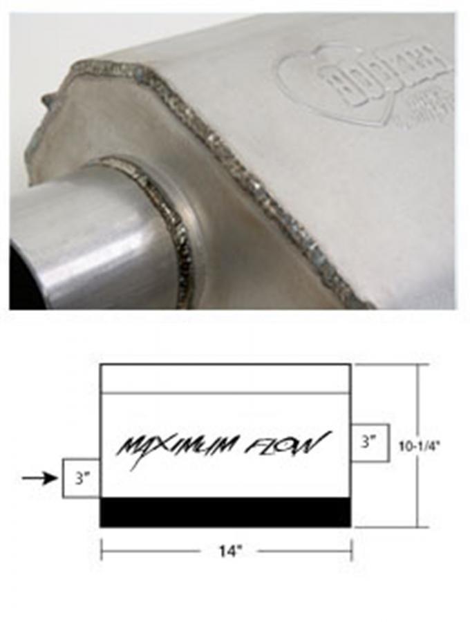 Hooker Maximum Flow Muffler 21605HKR