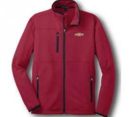 Chevy Jacket, Zippered Pique Fleece, Red