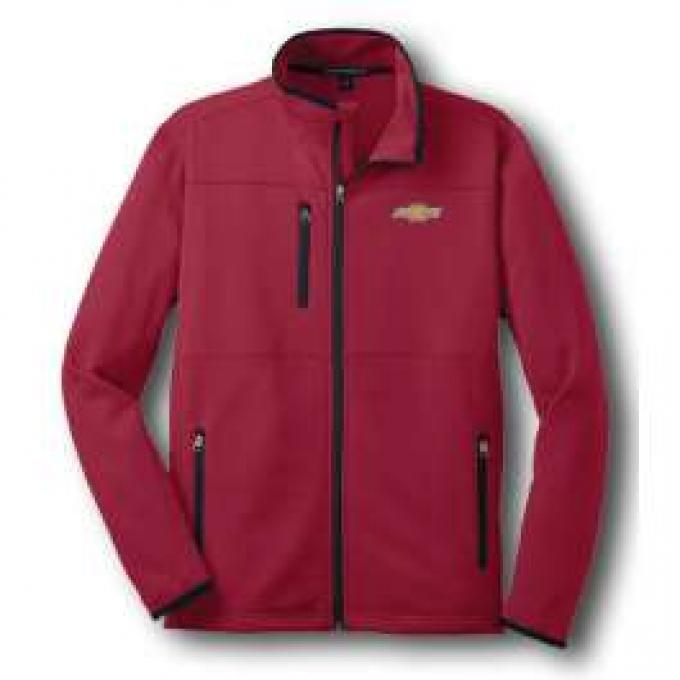 Chevy Jacket, Zippered Pique Fleece, Red
