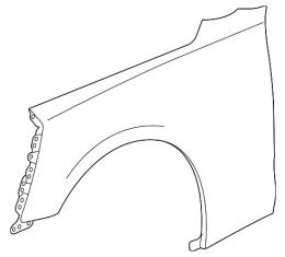 Camaro Front Fender, Left, 2016-2017