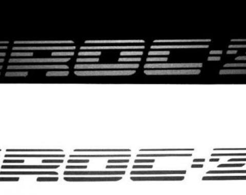 Camaro IROC-Z Door Logo, Silver, 1985-1990