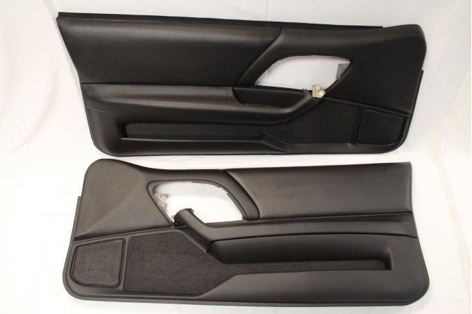 Camaro Leather Door Panels, Ebony, 1993-2002