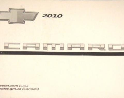 Camaro Owner's Manual, 2010