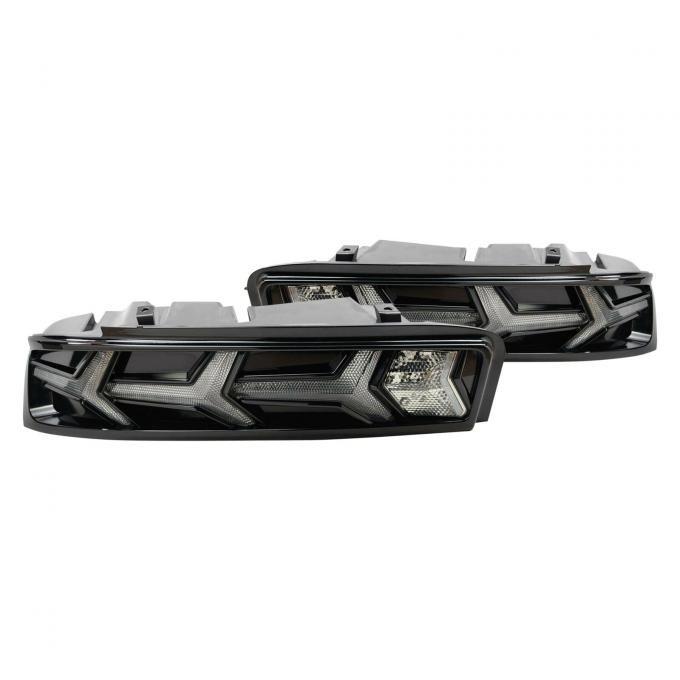 Morimoto 2016-2018 Chevrolet Camaro XB LED Taillight Kit, Smoke LF401