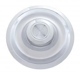 Rally Wheel Hub Cap Set With Plain Center Cap For 1967 Chevy Camaro