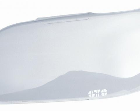 GT Styling GT0153C, Headlight Cover, Full Cover, Solid, Clear, Plastic, Set Of 2