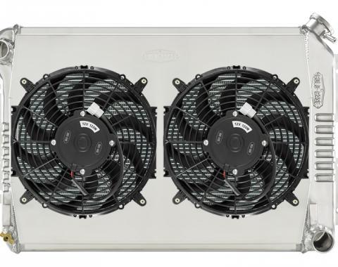 Cold Case Radiators 67-69 F Body Dual 12 Inch Fan Kit Manual Trans CHC11SK