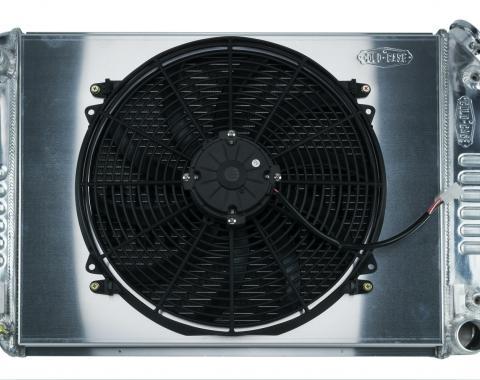 Cold Case Radiators 67-69 Camaro BB / Firebird Auto Transmission Aluminum Radiator and 16 Inch Fan Kit CHC11AK