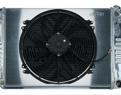 Cold Case Radiators 67-69 Camaro BB / Firebird Manual Transmission Aluminum Radiator And 16 Inch Fan Kit CHC11K