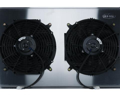 Cold Case Radiators Firebird Radiator 70-81 Firebird Manual Transmission Aluminum And 12 Inch Dual Fan Kit GPF18K