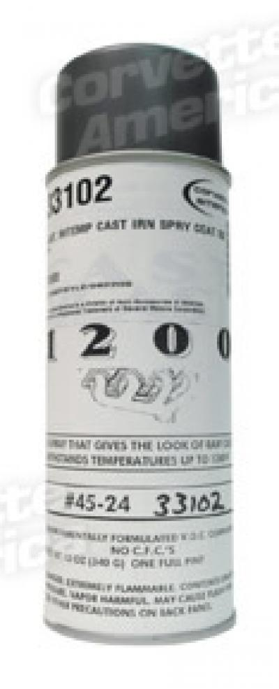 Paint, Cast Iron Spray Coat Hi-Temp