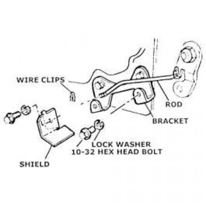 Muncie Backup Switch Mounting Kit, 1963-1968