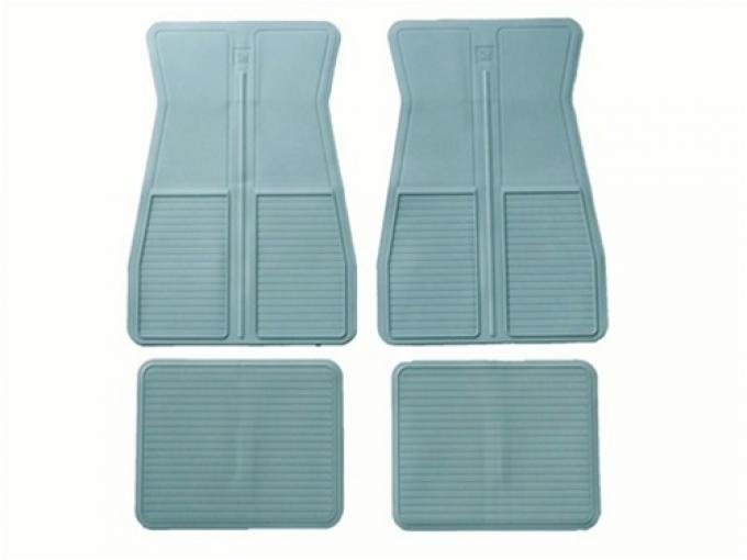 F-Body Original Style Rubber Floor Mats, With GM Logo, 1973-1981