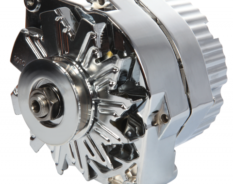 Proform Alternator, 100 AMP, GM 1 Wire Style, Machined Pulley, Chrome Finish, 100% New 66445.1N