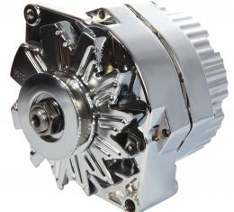 Proform Alternator, GM 73-86 with Internal Regulator, Machined Pulley, Chrome, 100% New 66445N