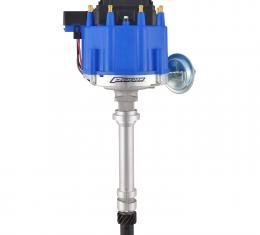 Proform HEI Distributor, Racing Type w/Vac-Adv, Blue Cap, Polished, For Chevy V8 Engines 66941BC