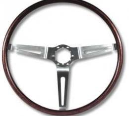 Camaro Deluxe Wood Steering Wheel, Show Quality, Rosewood, 1969