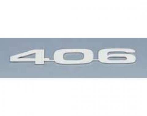 Camaro Hood Emblems, 406, Stainless Steel, 1967-1969