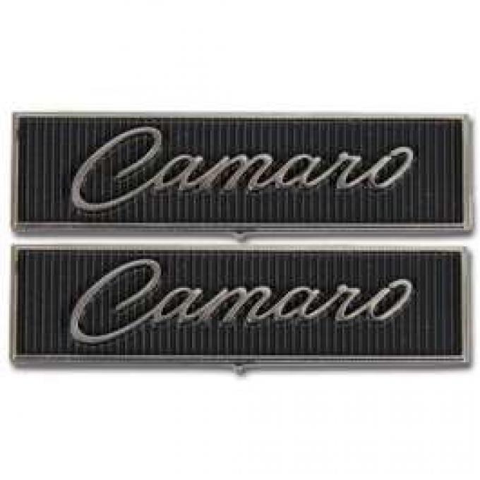 Camaro Door Panel Emblems, Standard Interior, 1968-1969