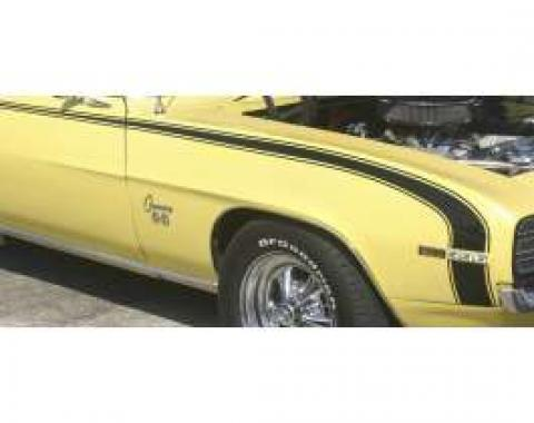 Camaro Hockey Stick Stencil & Black Vinyl Stripe Set, Super Sport (SS) & D90, 1969