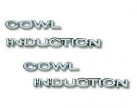Camaro Hood Emblem Set, Cowl Induction (Words), For Cars With Cowl Induction Hood, 1969