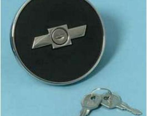 Camaro Gas Cap, Locking, Bowtie, 1967-1968
