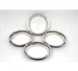 Camaro Super Sport (SS) Wheel Trim Ring Set, 14 x 7, With Inside Style Clips, 1969