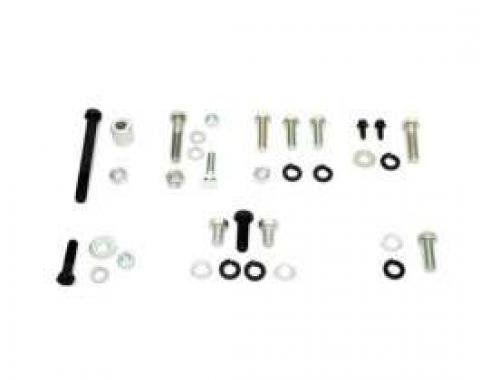 Camaro Air Conditioning Compressor Mounting Hardware Set, Small Block, For Cars With A.I.R. Pump, 1967