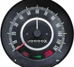 Camaro Speedometer, 120 MPH, With Speed Warning Indicator, 1967