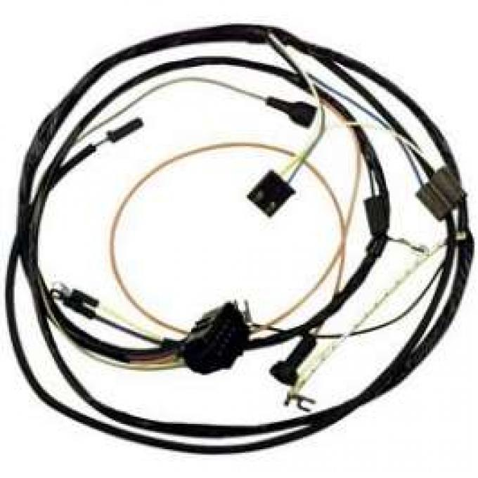 Camaro Engine Wiring Harness, Small Block, For Cars With Warning Lights, 1967