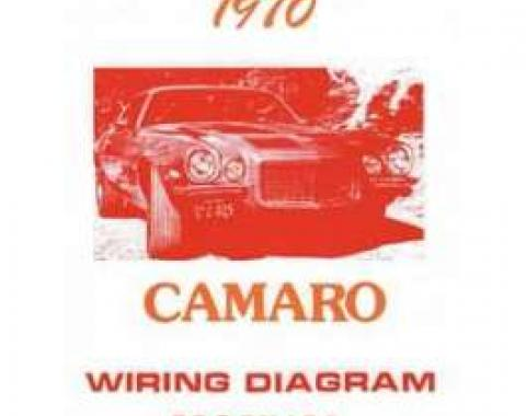 Camaro Wiring Diagram Manual, 1970