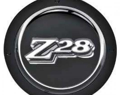 Camaro Steering Wheel Z28 Emblem, Black, 1977-1979