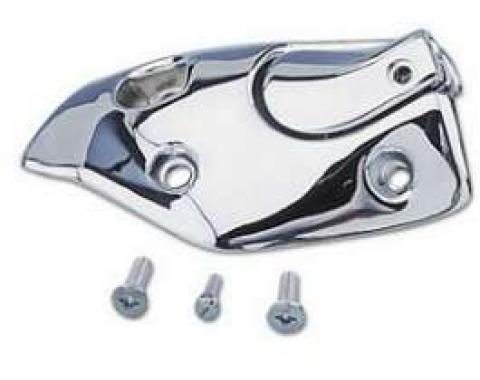 Camaro Sunvisor Bracket, Left, Convertible, Polished Chrome, 1967