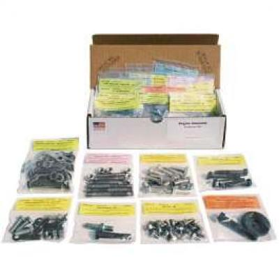 Camaro Master Engine Bolt Kit, 327ci, For Cars With Air Conditioning, 1967-1968