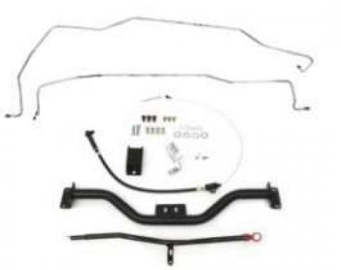 Camaro Automatic Transmission Crossmember Mega Kit, Tubular, Turbo Hydra-Matic 700R4 (TH700R4) & 4L60, 1967-1969