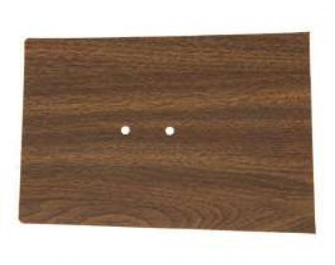 Camaro Console Forward Panel Plate Insert, Walnut Woodgrain, 1968