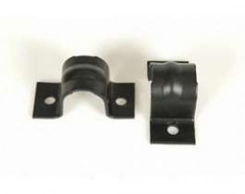 Camaro Anti-Sway Bar Mounting Brackets, Front, For Cars With Stock 11/16 Bar, 1967-1969