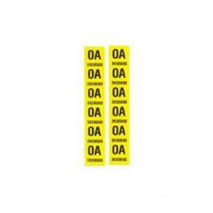 Camaro Leaf Spring Tape Decals, Code OA, Z28, 1968