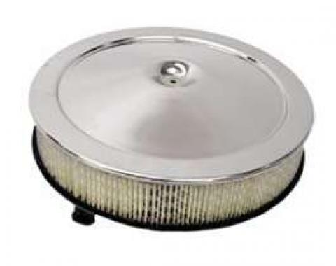 Camaro Air Cleaner Assembly, Open Element, Chrome, 1967-1969