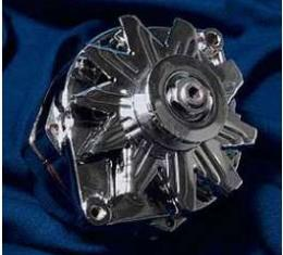 Camaro Powermaster Alternator, 70 AMP Chrome, Internal ReguLator, 1969-1981
