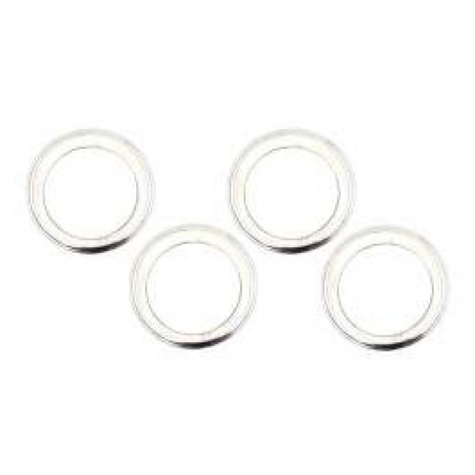 Camaro Rally Wheel Trim Ring Set, 14 x 7, With Inside Style Clips, 1967-1969