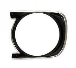 Camaro Headlight Bezel, For Cars With Standard Trim (Non-Rally Sport), Left, GM, 1968