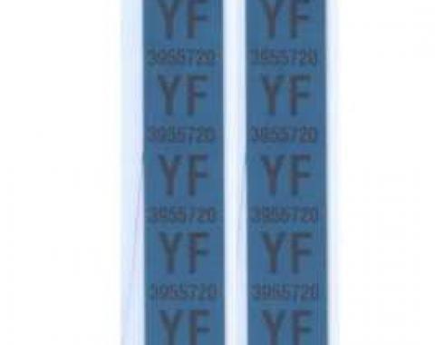 Camaro Coil Spring Tape Decals, Code YF, Z28, 1969