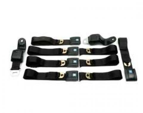 Camaro Seat Belt Sets, Standard, Front & Rear, 1967-1969